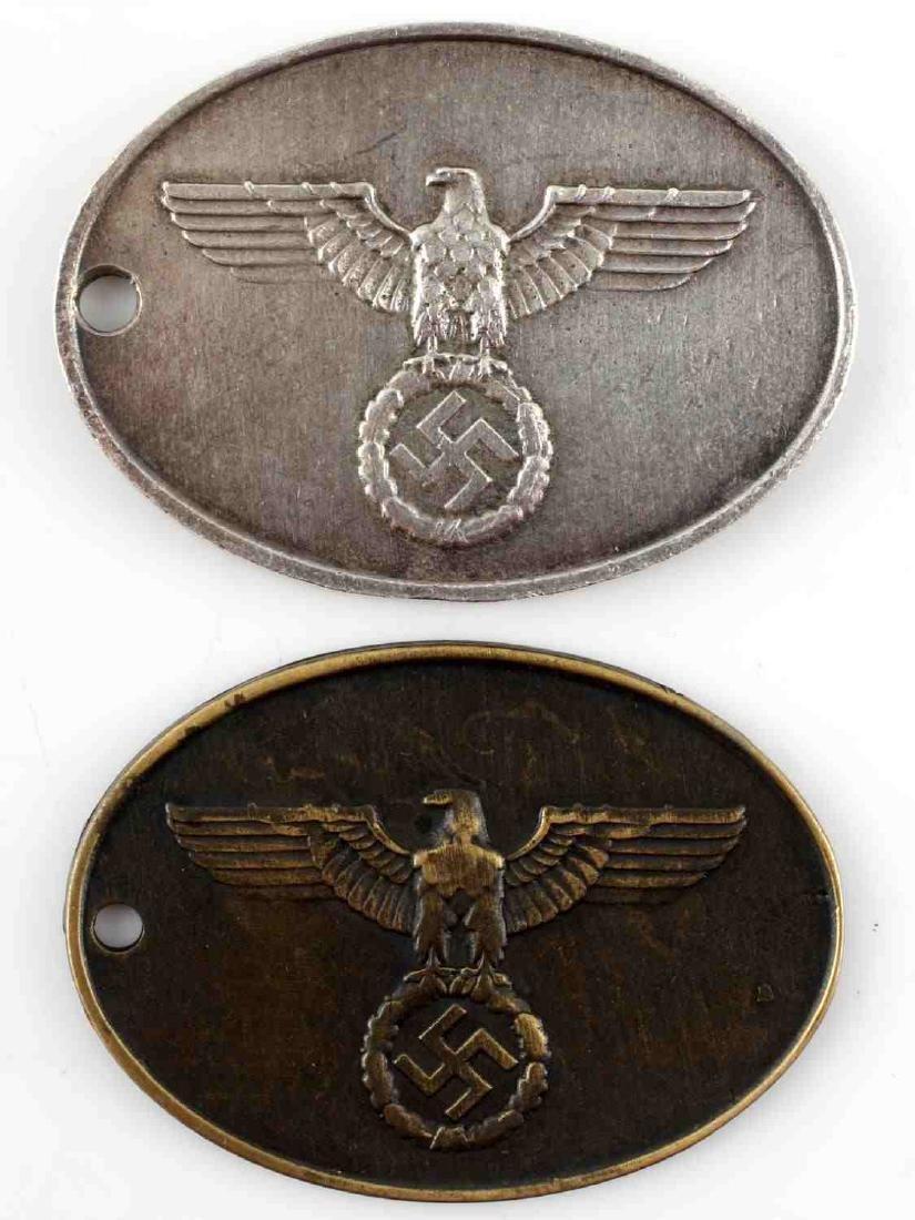 GERMAN WWII THIRD REICH STAATSPOLIZEI ID BADGE LOT