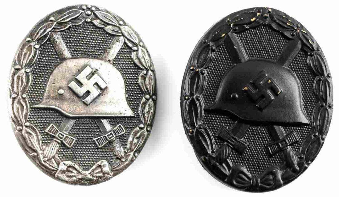 GERMAN WWII THIRD REICH WOUND BADGE LOT