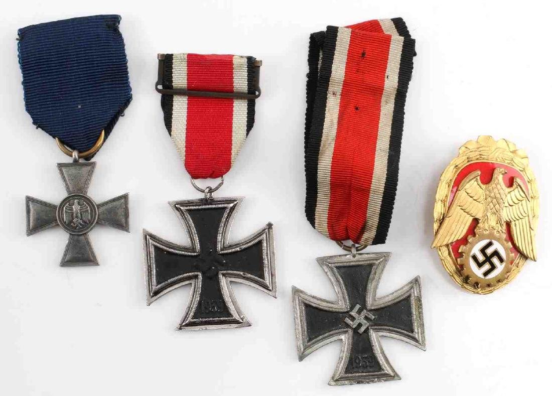 WWII GERMAN THIRD REICH REENACTORS MEDAL LOT OF 4
