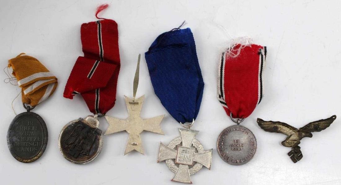 WWII GERMAN ASSORTED MEDAL & BADGE LOT OF 6 - 2