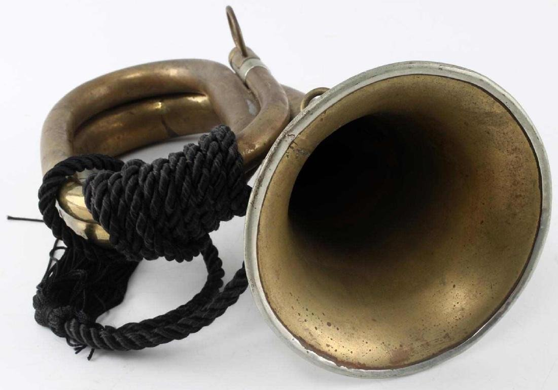 WWII THIRD REICH GERMAN BUGLE WITH ROPE - 5