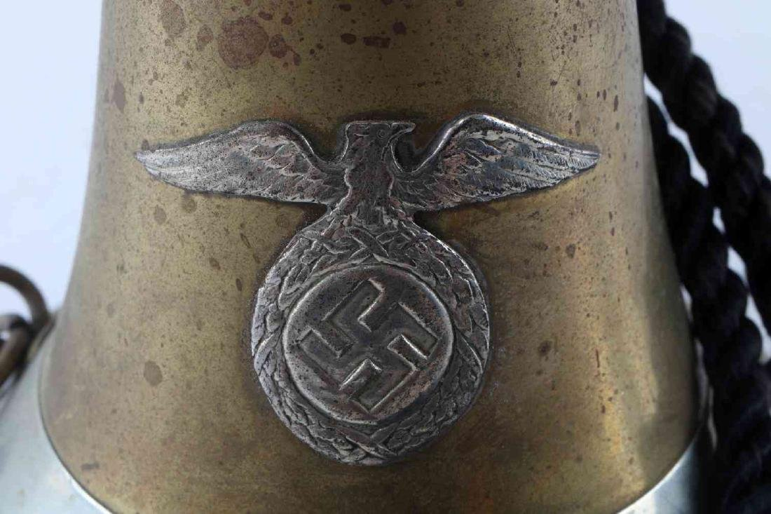 WWII THIRD REICH GERMAN BUGLE WITH ROPE - 6