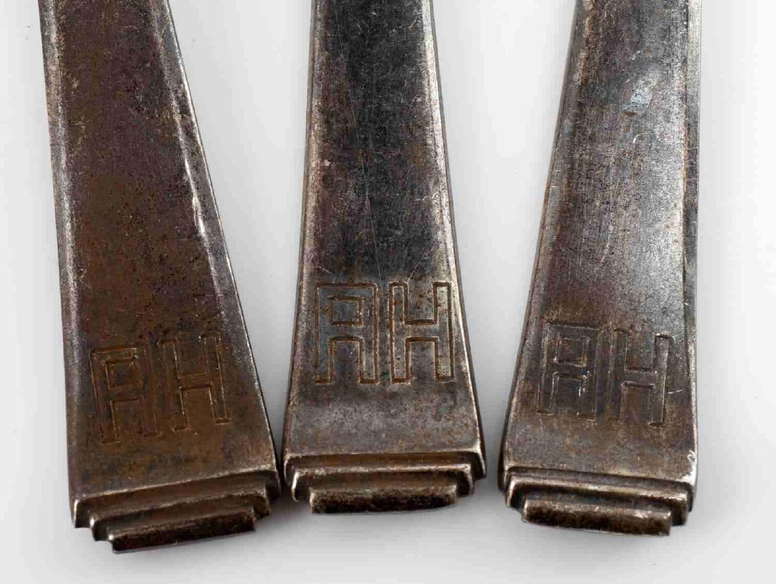 WWII GERMAN ADOLF HITLER MONOGRAM SILVERWARE LOT - 3