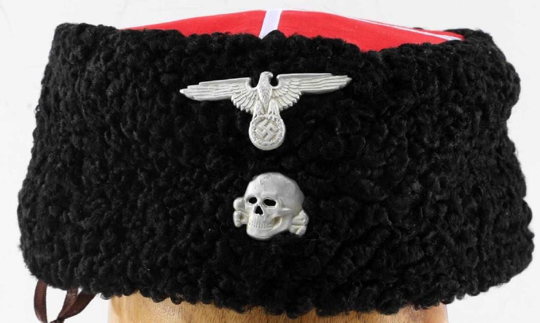 80f68f85f WWII RUSSIAN DON COSSACKS PAPAKHA HAT WAFFEN SS