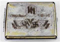 GERMAN WWII SS DAS REICH CHARKOW CIGARETTE CASE