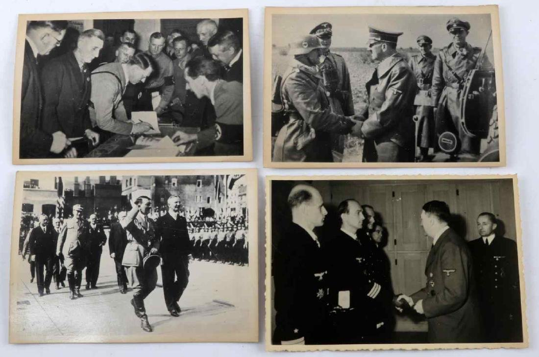 GERMAN WWII THIRD REICH ADOLPH HITLER PHOTO LOT - 4