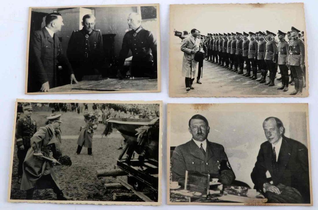 GERMAN WWII THIRD REICH ADOLPH HITLER PHOTO LOT - 4