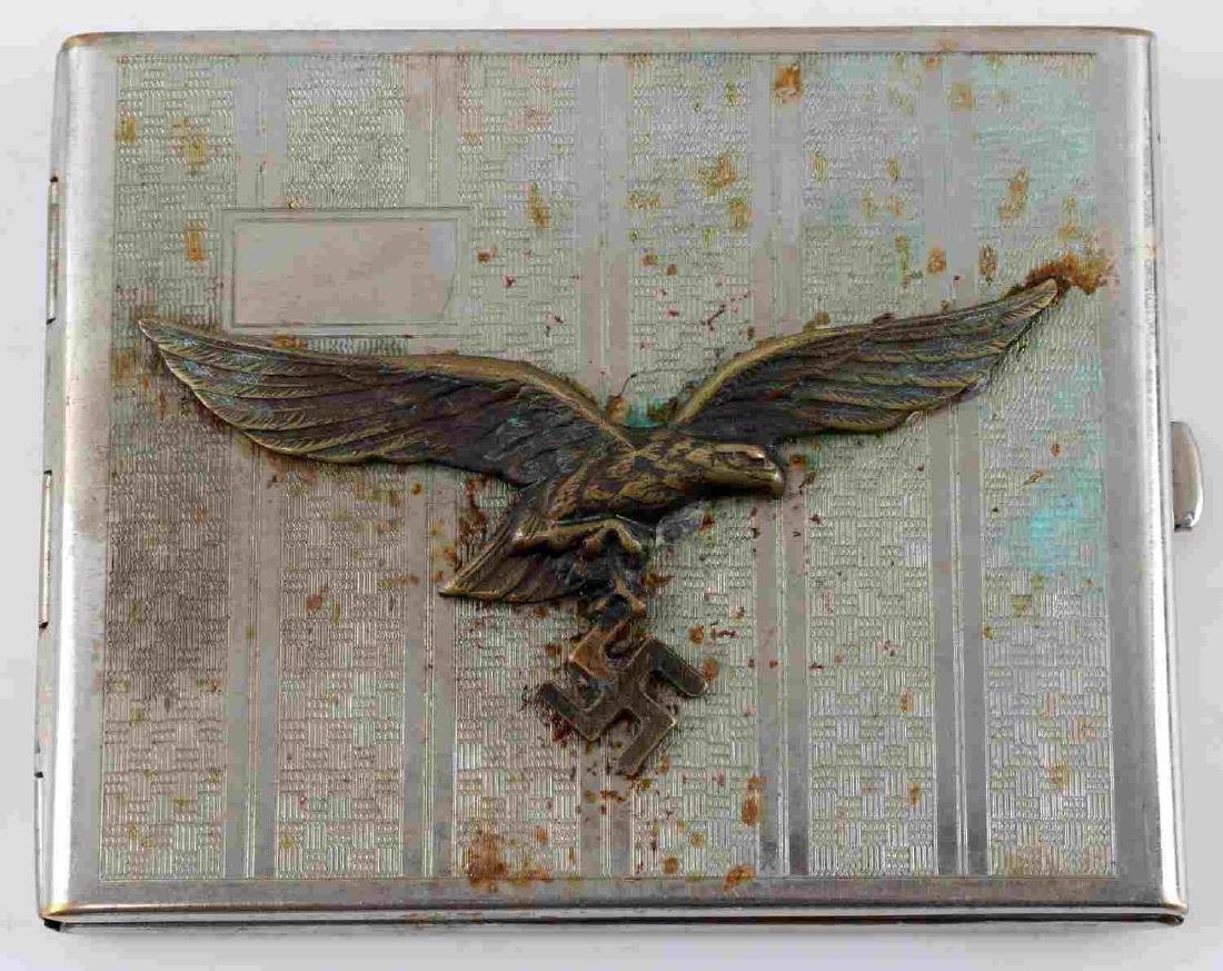 GERMAN WWII LUFTWAFFE PILOTS CIGARETTE CASE