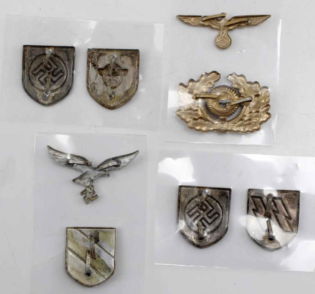 WWII GERMAN THIRD REICH CAP BADGE LOT OF EIGHT - 2