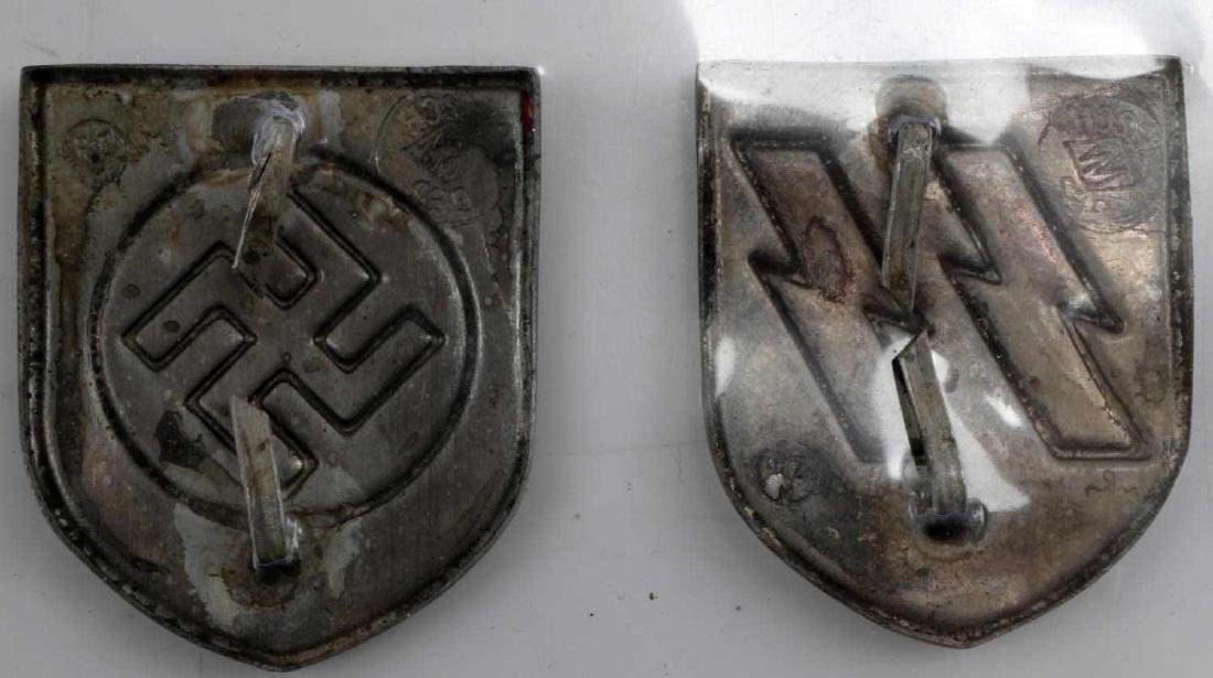 WWII GERMAN THIRD REICH CAP BADGE LOT OF EIGHT - 3