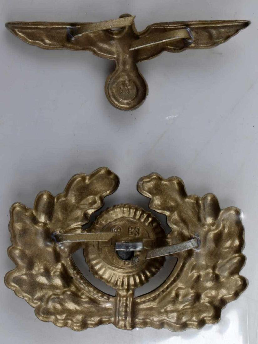 WWII GERMAN THIRD REICH CAP BADGE LOT OF EIGHT - 4