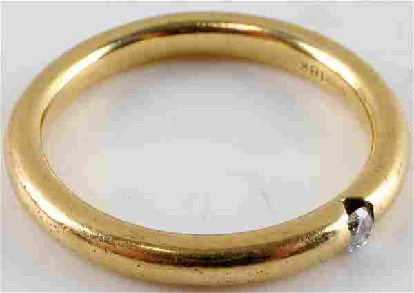 SPARK 18KT YELLOW GOLD MENS RING W DIAMOND .06 CT