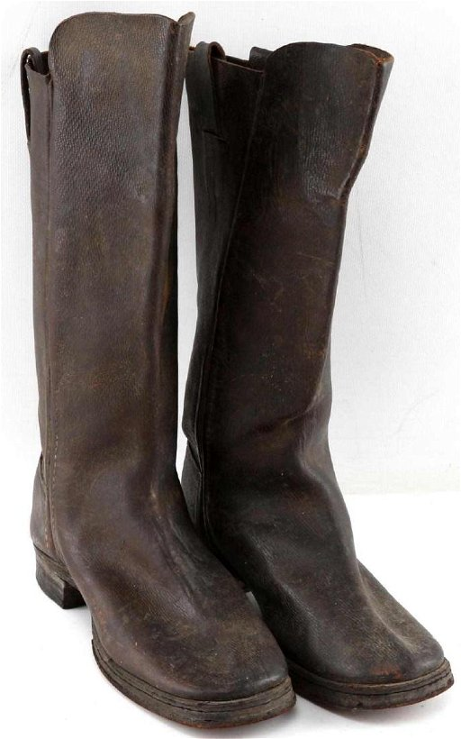 CIVIL WAR CAVALRY OFFICER LEATHER BOOTS