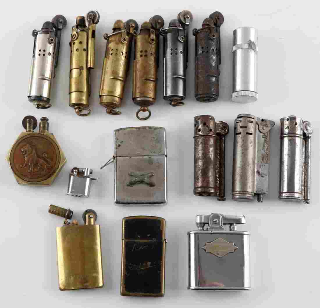 WWI WWII ANTIQUE MILITARY LIGHTER COLLECTION