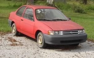 1993 TOYOTA TERCEL RACE CAR RED PROJECT CAR