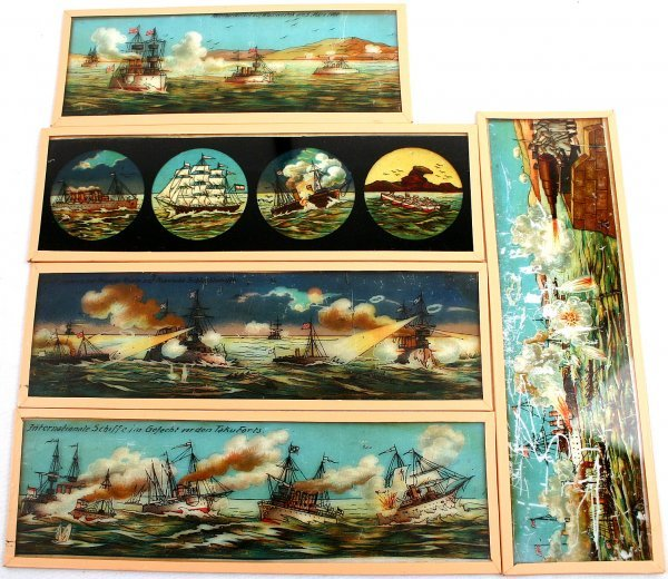 RUSSO JAPANESE WAR RARE MAGIC LANTERN SLIDES