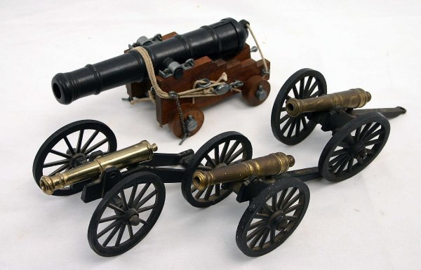 LOT OF 4 MODEL CANNON