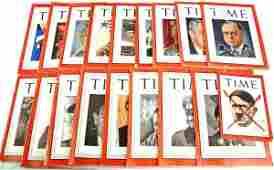 18 TIME MAGAZINE 1939 1945 HIMMLER HITLER IKE WWII