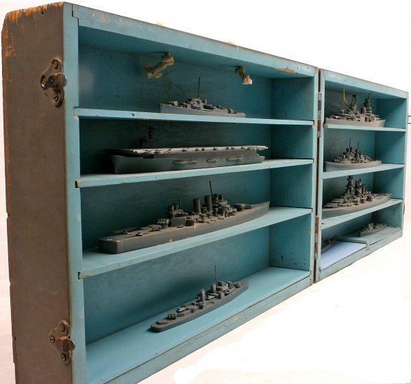 WWII USN FRAMBURG ID MODEL TEACHER BOX SHIP MODELS