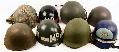 HELMET LOT VIETNAM KOREA PILOT MP LINER US SWISS