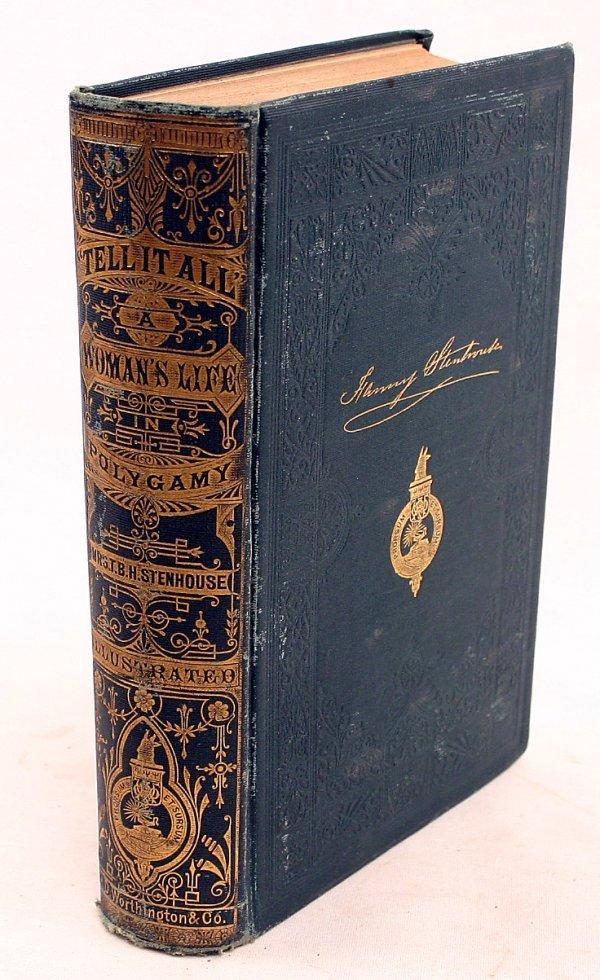 MORMON 1875 1ST ED BOOK WOMANS LIFE POLYGAMY