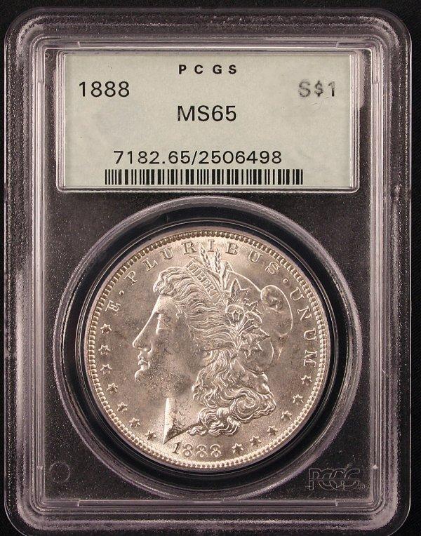 1888 MORGAN SILVER DOLLAR PCGS MS65 OGH