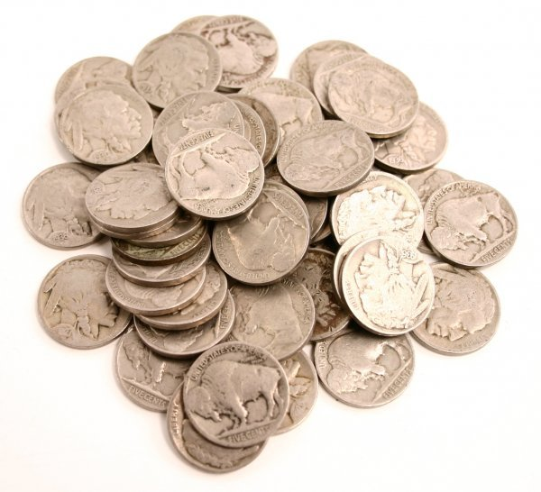 50 BUFFALO NICKEL LOT VG TO VF CLEAR DATE