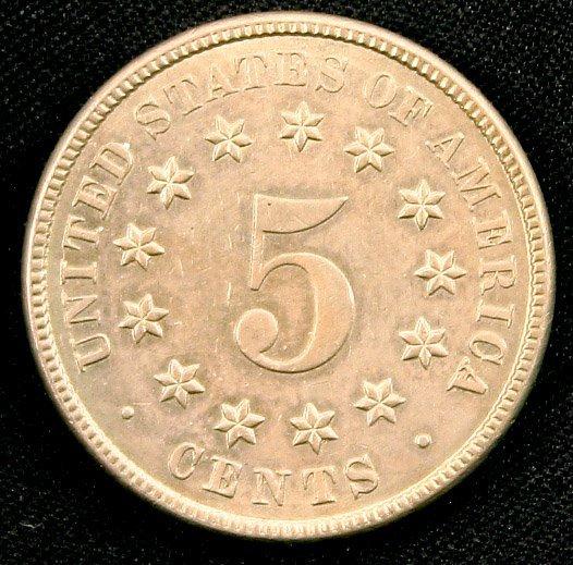 1883 SHELD NICKEL 5c UNGRADED UNC MS+