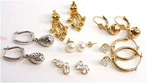 14K GOLD EARRING COLLECTION LOT