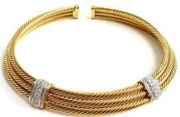 DAVID YURMAN 18K GOLD DIAMOND NECKLACE