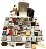 HUGE ANTIQUE VINTAGE LIGHTER LOT ZIPPO AND OTHERS