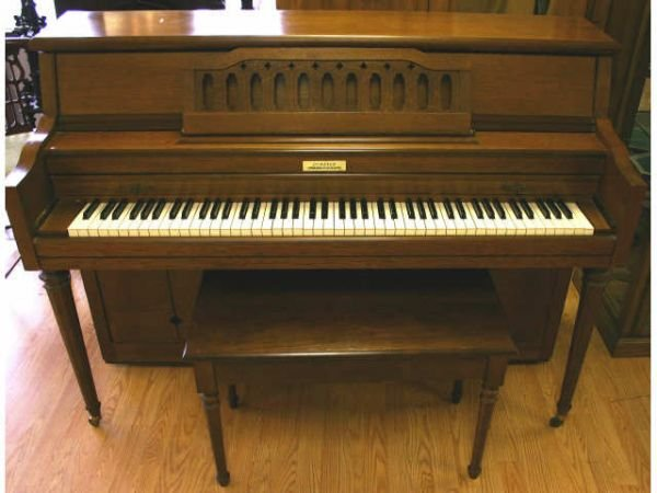 CURRIER UPRIGHT SPINET PIANO AND BENCH