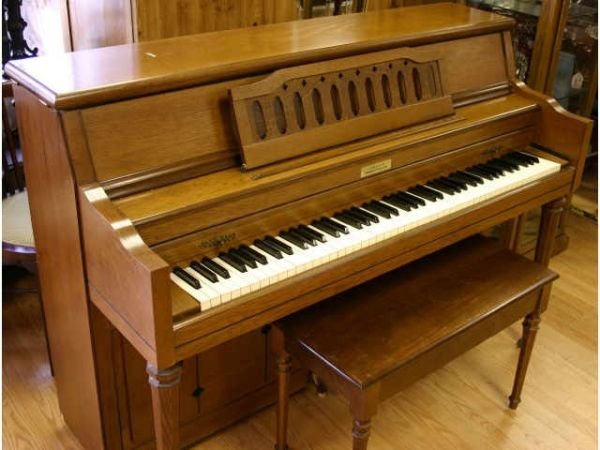 CURRIER UPRIGHT SPINET PIANO AND BENCH - 2