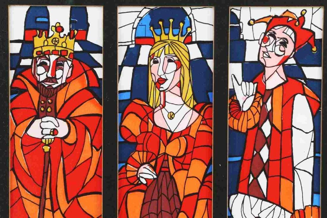 GEORGE MILTON ART NOUVEAU KING QUEEN JOKER PRINT - 2