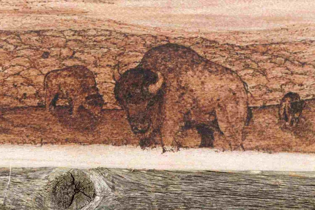 JOHN MCCLURE PRINT OF PYROGRAPHIC ART SOUTHWEST - 3