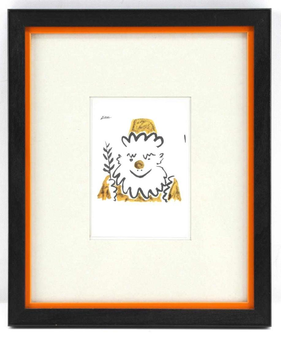 FRAMED COLOR LITHOGRAPH AFTER PABLO PICASSO