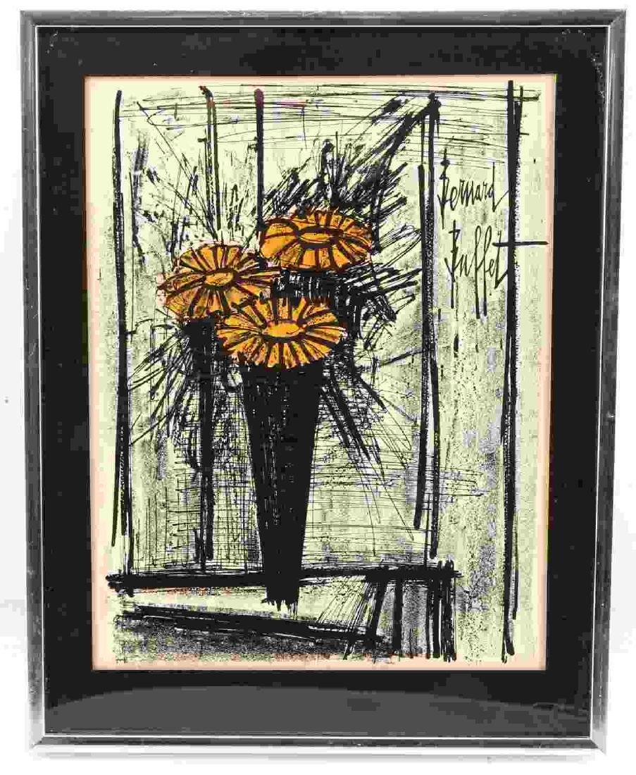 COLOR LITHOGRAPH AFTER BERNARD BUFFET FLOWERS