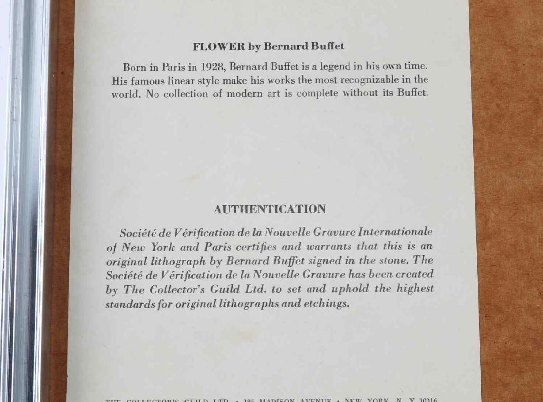 COLOR LITHOGRAPH AFTER BERNARD BUFFET FLOWERS - 5