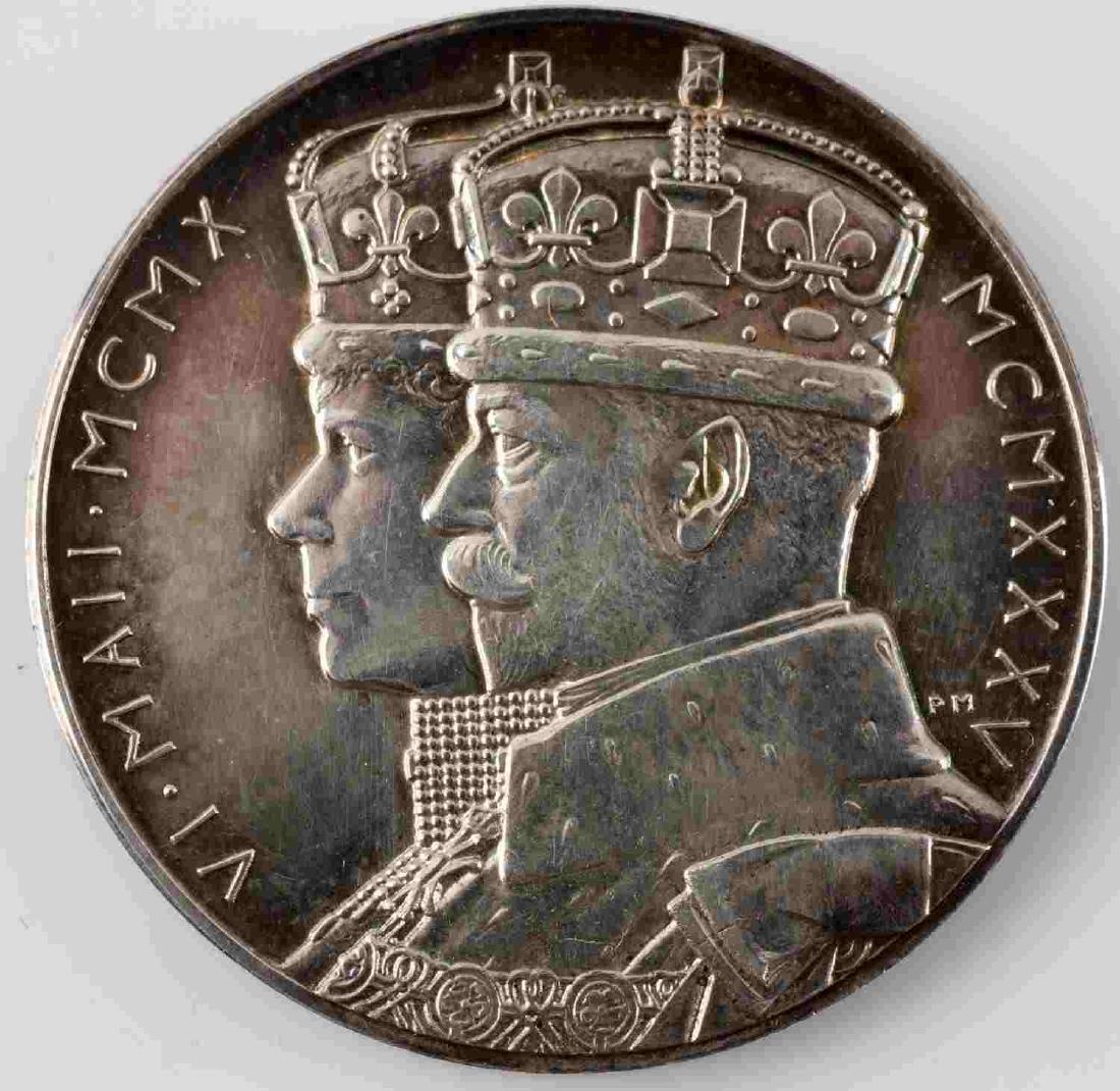 LOT OF 14 BRITISH COMMEMORATIVE MEDALS & COINS - 2