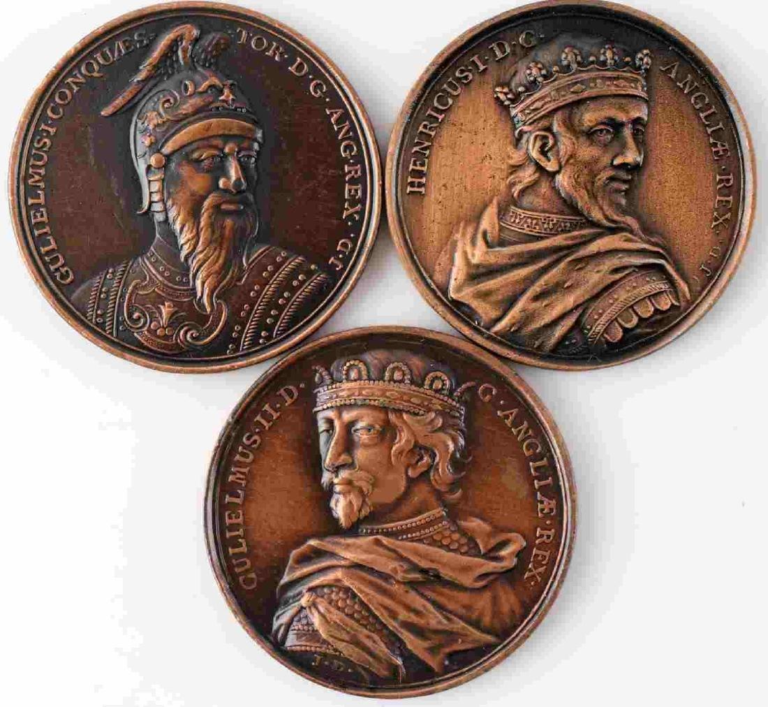 LOT OF 14 BRITISH COMMEMORATIVE MEDALS & COINS - 7