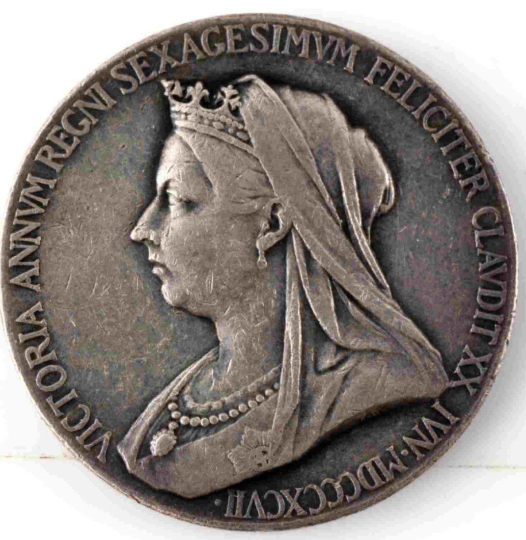 LOT OF 14 BRITISH COMMEMORATIVE MEDALS & COINS - 9