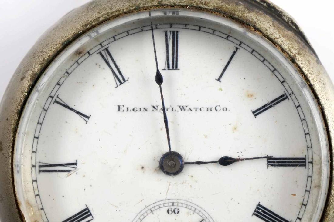 ELGIN WATCH CO HAND WOUND POCKET WATCH - 2