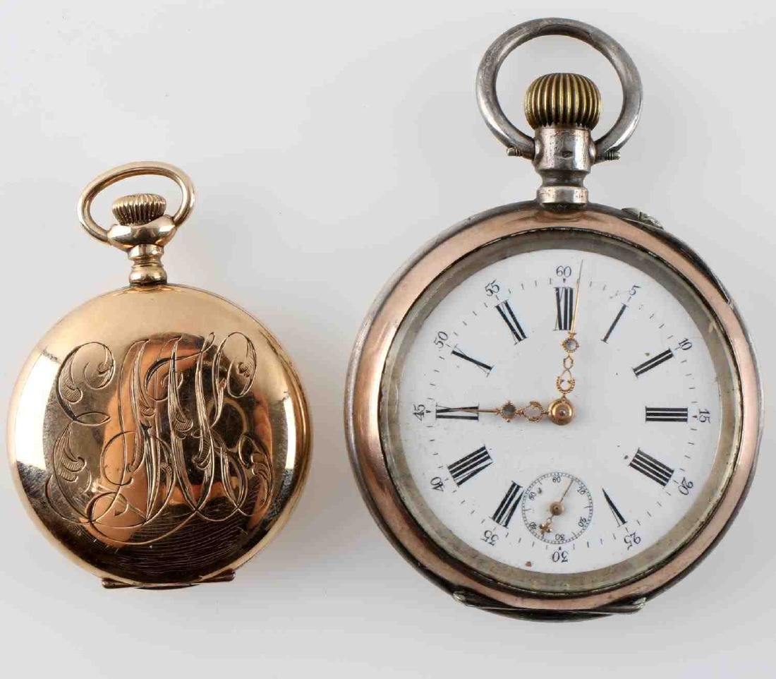 1908 WALTHAM POCKET WATCH & FRENCH POCKET WATCH