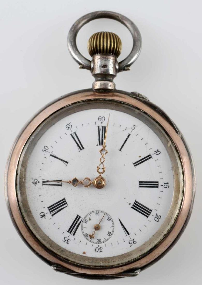 1908 WALTHAM POCKET WATCH & FRENCH POCKET WATCH - 2