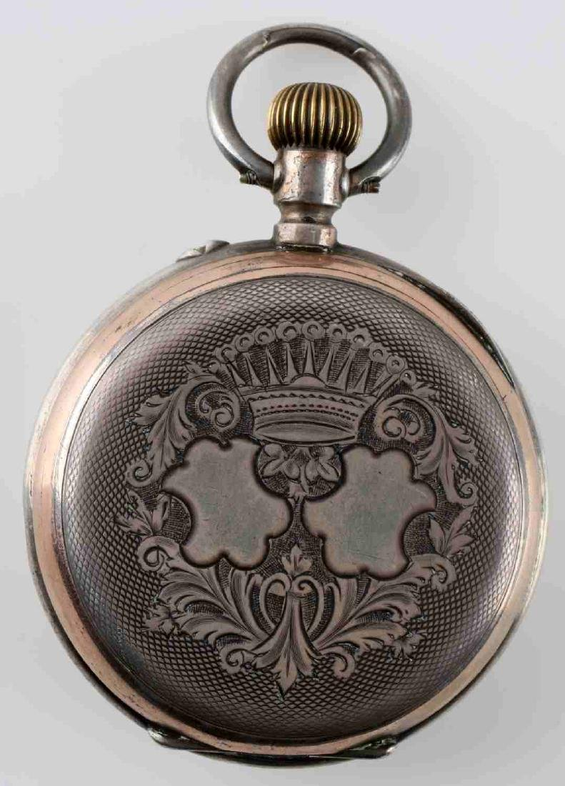 1908 WALTHAM POCKET WATCH & FRENCH POCKET WATCH - 6