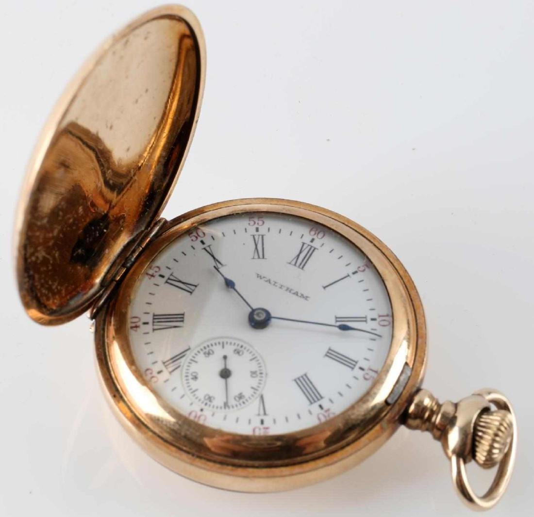 1908 WALTHAM POCKET WATCH & FRENCH POCKET WATCH - 8