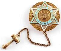 4 GRAM 14K GOLD LADIES JEWISH WAR VETERANS PIN