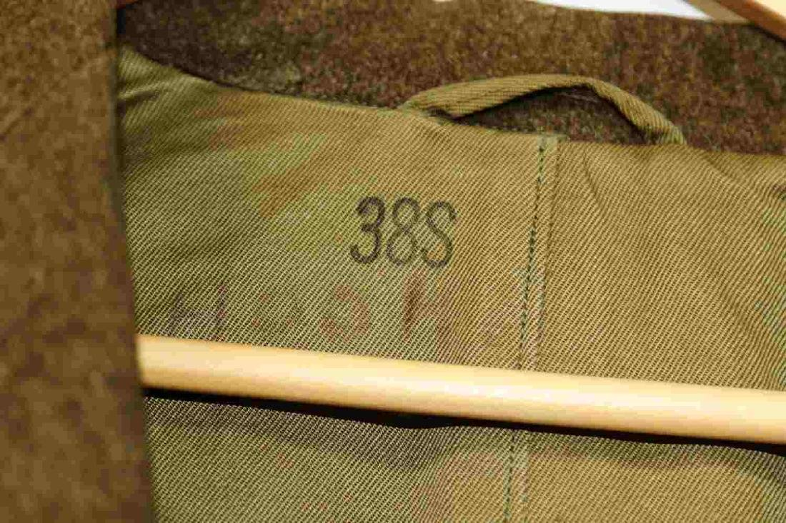TWO MILITARY UNIFORM US ARMY WWII OVERCOATS - 2