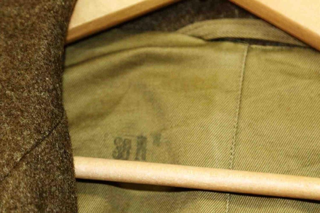 TWO MILITARY UNIFORM US ARMY WWII OVERCOATS - 4
