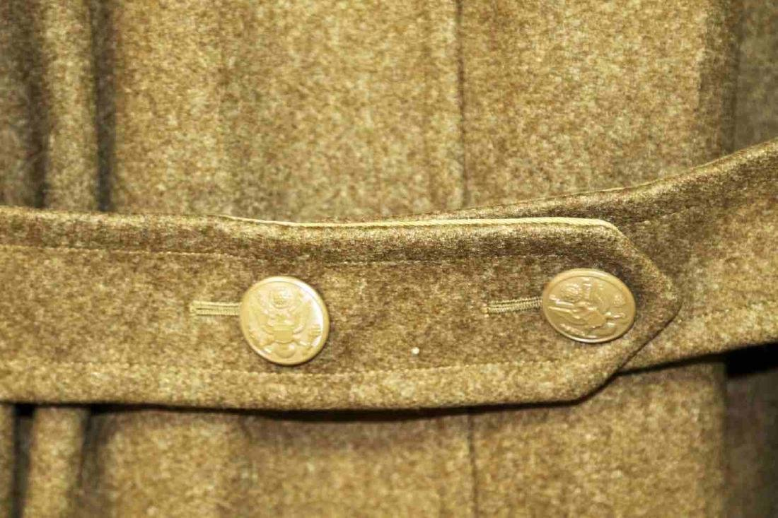 TWO MILITARY UNIFORM US ARMY WWII OVERCOATS - 6